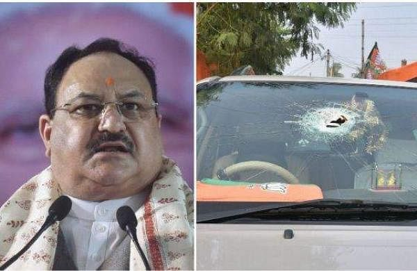 nadda car attacked