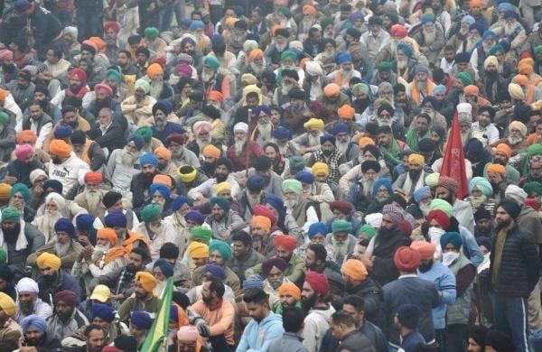 delhi farmers strike