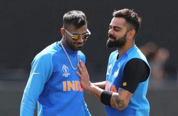indian all rounder hardik pandya and captain virat kohli