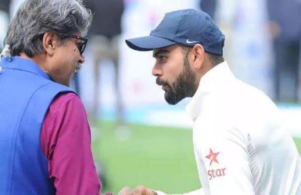 indian former player kapil dev and captain kohli