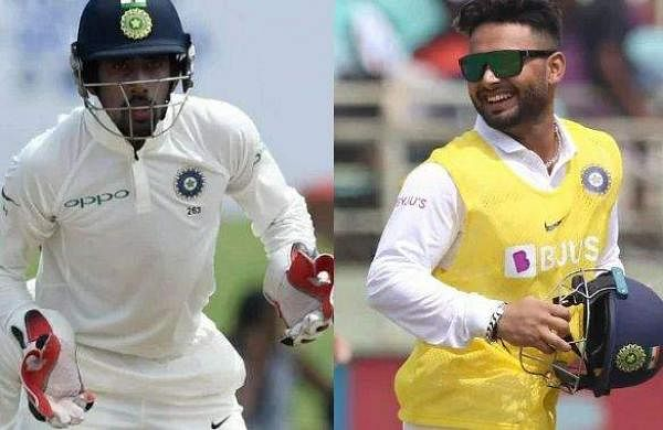 indian wicket keepers wriddiman saha and rishabh pant
