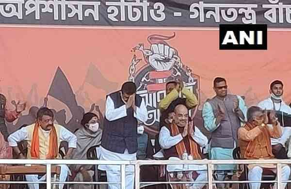 suvendu adhikari joins bjp in presence of amit shah