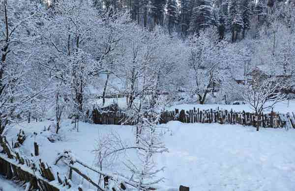 Today's temperature in Jammu and Kashmir is minus eight degrees