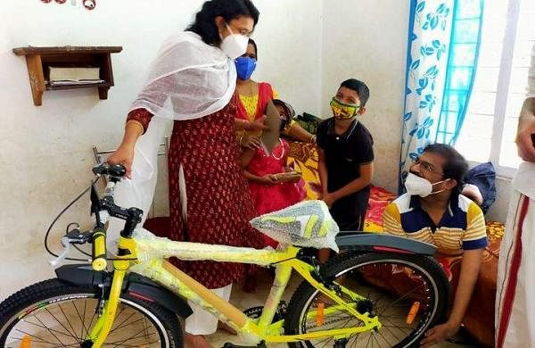 kottayam_collecter_bought_new_cycle