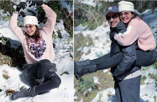 kajal agarwal celebrate new year with husband