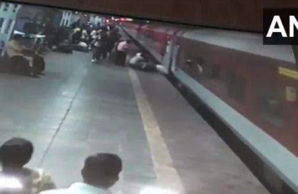 jump into a running train