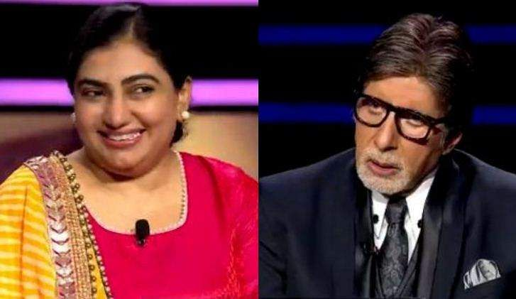 Kon Baneka Crore Pati winner flirting with Amitabh Bachchan