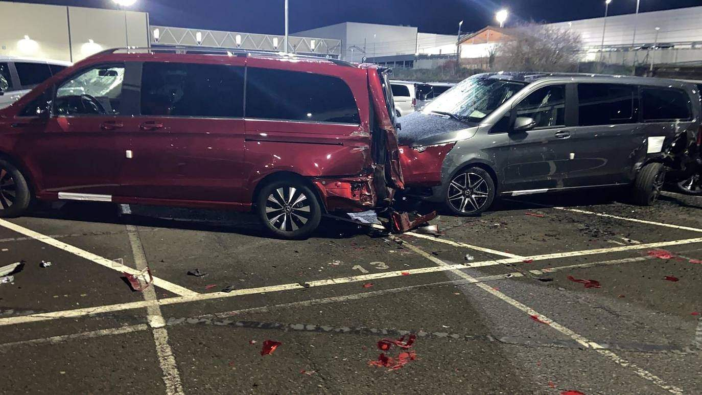 smashing new Benz cars