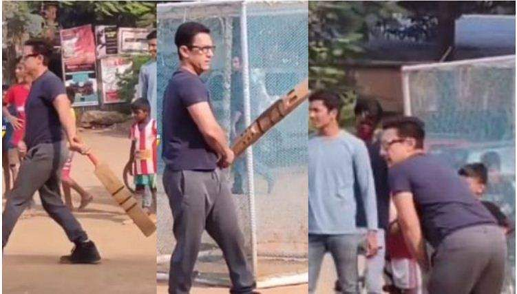 aamir_khan playing cricket with kids