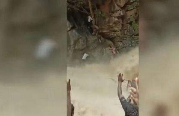 Villagers rescue woman