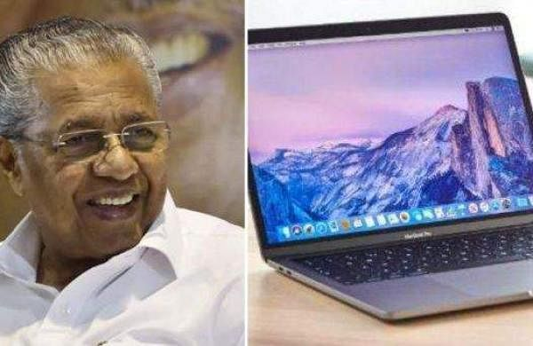 laptop and pinarayi vijayan
