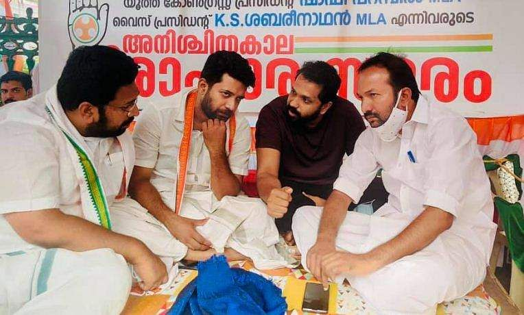 arun_gopi support psc rank holders protest