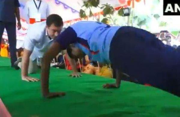 Rahul Gandhi wows netizens with push-ups