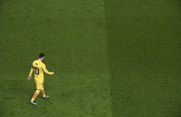 Messi losing the penalty