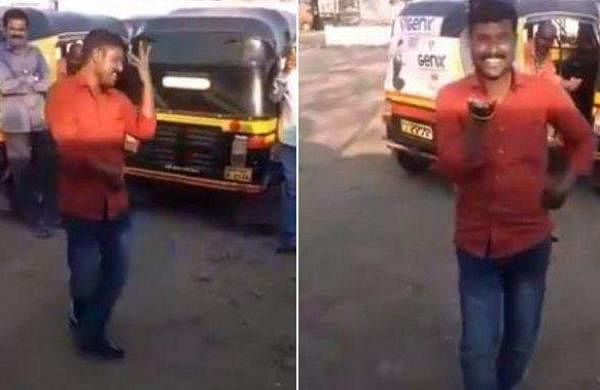 This auto driver's dance