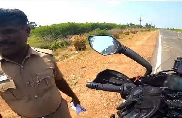 This Biker In Tamil Nadu Was Stopped By A Cop. Watch What Happened Next