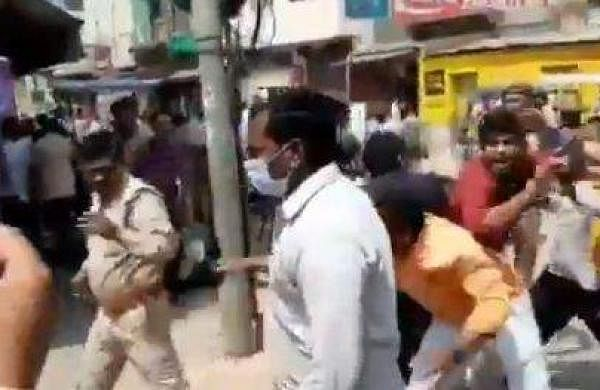 RSS workers clash with police