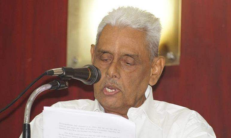 MGS Narayanan could not cast his postal vote