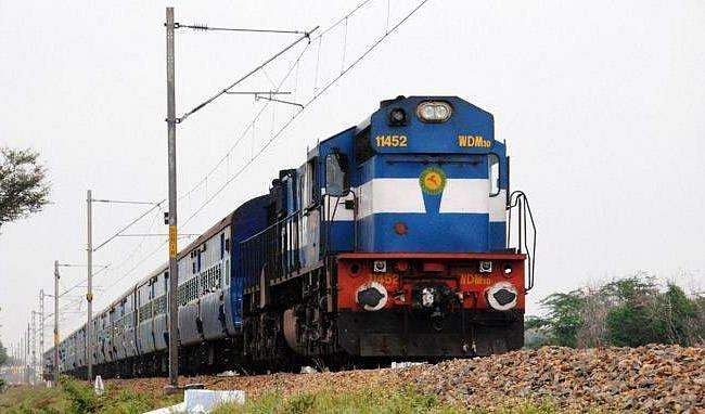 An unidentified person attacked a young woman on a moving passenger train