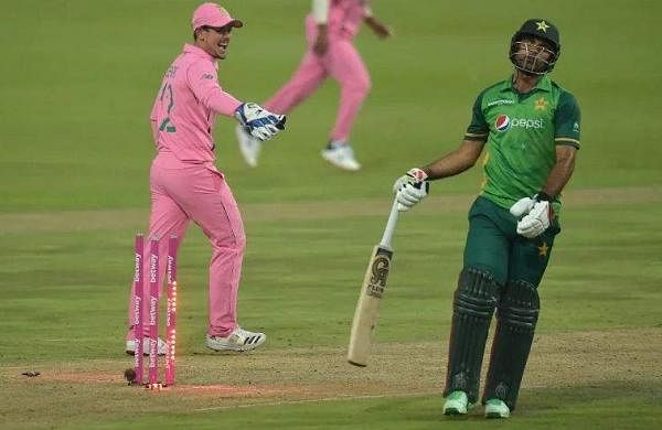 Fakhar Zaman was run out in 193 t