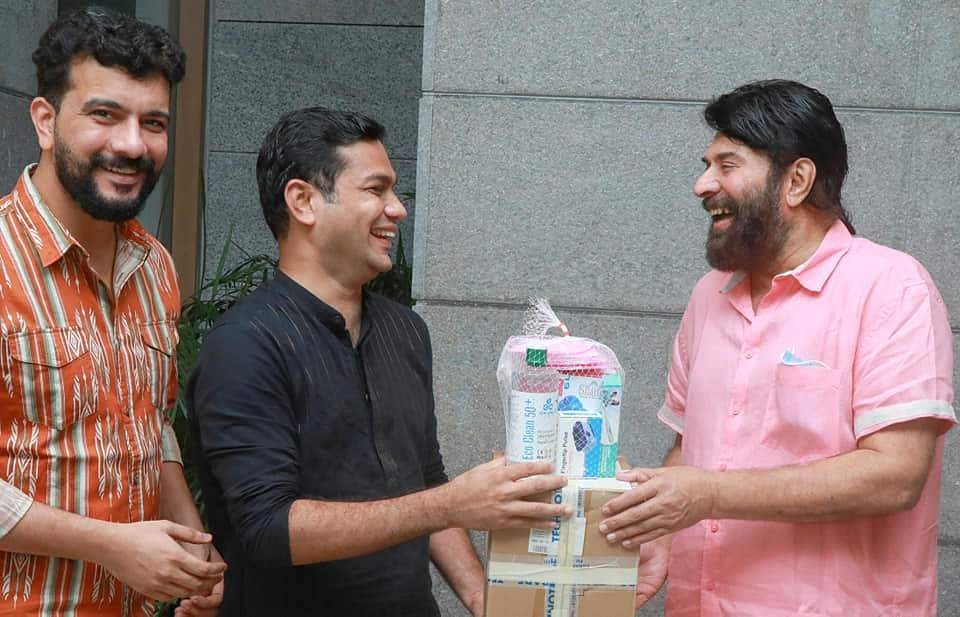 mammootty with help of covid patients