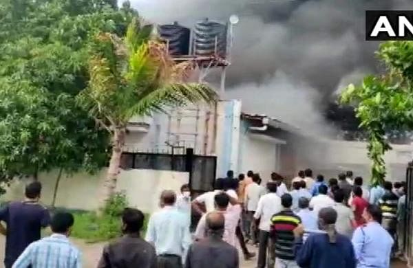 Major fire guts sanitizer factory