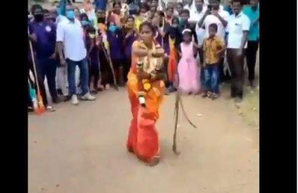 Bride Performs Silambam