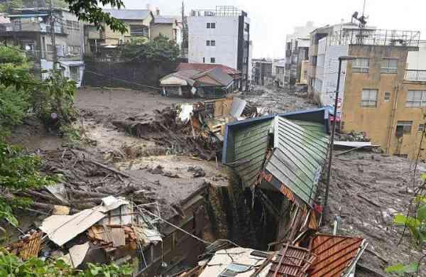 heavy rains trigger landslide