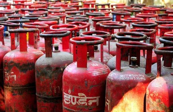 LPG cylinders catches fire