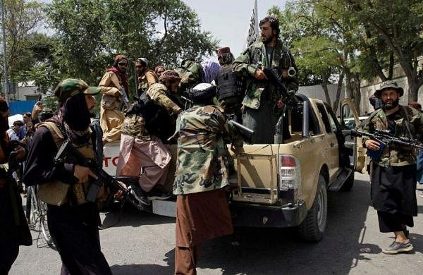talibans patrolling